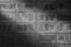 Brick block wall and black and white background-light sunrays Royalty Free Stock Image