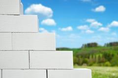 Brick block wall Stock Photography