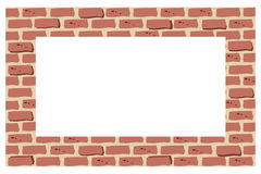 Brick border or frame Stock Photos