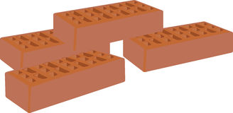 Brick. S for the construction and the building in terracotta Royalty Free Stock Photos