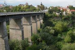 Brick_bridge. Brick bridge. Pereyaslav-Khmelnitsky Ukraine Stock Photo