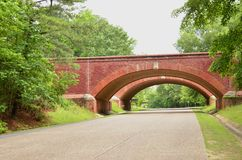 Brick bridges nr Williamsburg Stock Images