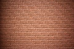 The brick brown wall Royalty Free Stock Photo