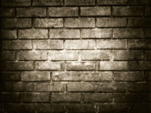 brick brown wall for halloween background Stock Photography