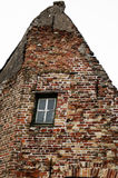 Brick buidling in Brugge Royalty Free Stock Images