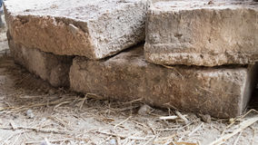 Brick for buidling Earthen House Stock Photo