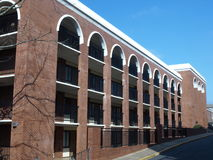 Brick building. A brick building on a college campus Royalty Free Stock Image