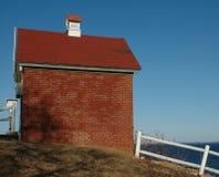 Brick Building. Little brick building sitting next to the Atlantic Ocean stock photography