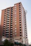 Brick building. Tall brick apartment building exterior stock photos