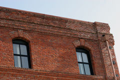 Brick Building. Old brick warehouse Royalty Free Stock Image