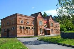 Brick building at Albertin Manor, Belarus Royalty Free Stock Image