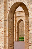 Brick building arches Stock Image