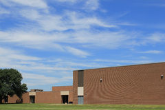 Brick building with blue sky Royalty Free Stock Photography