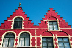 Brick building in Bruge Stock Images