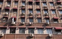 Brick building facade Stock Photos