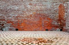 A brick is building material used to make walls.pavements and other elements in masonry construction. Bricks are produced in numerous classes, types, materials Royalty Free Stock Photos