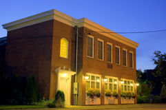 Brick building, night HDR Royalty Free Stock Images