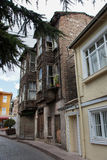 The brick building in the Old Town in Istanbul, Turkey. SONY DSC, The old brick building in the Old Towns street in Istanbul, Turkey Royalty Free Stock Image