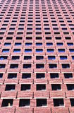 Brick building. Perspective shot of red  brick building Stock Photos