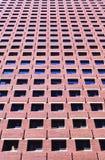 Brick building. Perspective shot of red brick building Stock Photos