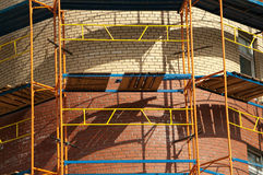 Brick Building Under Construction Royalty Free Stock Photography