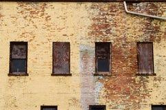 Brick building and windows. Stock Photos