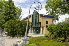 The brick building in Zakopane Royalty Free Stock Photos