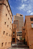 Brick buildings at Bogota. BOGOTA,COLOMBIA-JUNE 15,2016: Brick buildings at `Parque Central Bavaria` residential and financial complex at Bogota Royalty Free Stock Photo