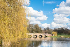 Brick Built Bridge. Five Arch Bridge over the river Cray in Sidcup,Kent,UK Royalty Free Stock Photo