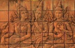 Brick carving Royalty Free Stock Photo