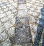 Brick in casorate sempione street ll pavement of a curch and mar Royalty Free Stock Photos