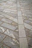 Brick in casorate sempione street lombardy italy Stock Photo