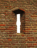 Brick castle window Royalty Free Stock Photos