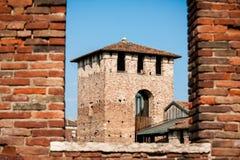 Brick Castles at Verona, Italy Stock Image