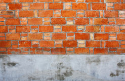 Brick Cement wall Royalty Free Stock Image