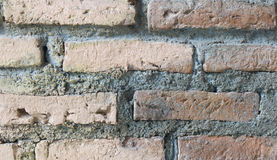 Brick and cement wall. Dirty brick and cement wall Stock Photos
