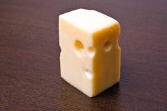 Brick of cheese Stock Image