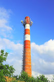 Brick chimney with antennas Stock Image