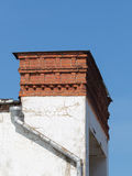 Brick chimney and gutter Stock Images