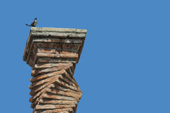 Brick chimney of an old house Royalty Free Stock Image