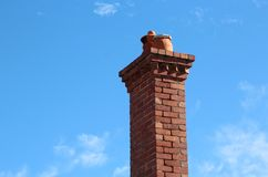 Brick Chimney with Pots Royalty Free Stock Photo