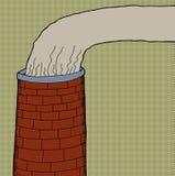 Brick Chimney Smoke Stock Photo