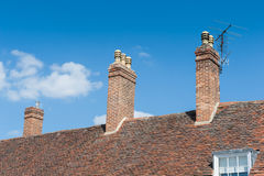 Brick chimneys Royalty Free Stock Photos
