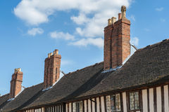Brick chimneys Stock Photography