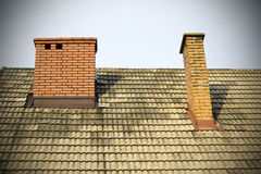 Brick chimneys Stock Photo