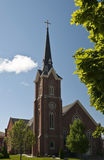 Brick Church. View of a brick church on spring day Royalty Free Stock Photography