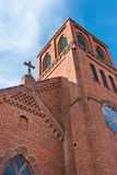 Brick church architecture Stock Photo