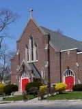 Brick church Stock Photography