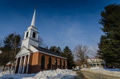 Brick Church - Grafton, Vermont. The Grafton Congregational Church, known locally as The Brick Church, is a historic church on Main Street in Grafton, Vermont Royalty Free Stock Photo