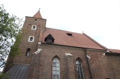 Brick church in Kracow royalty free stock photo